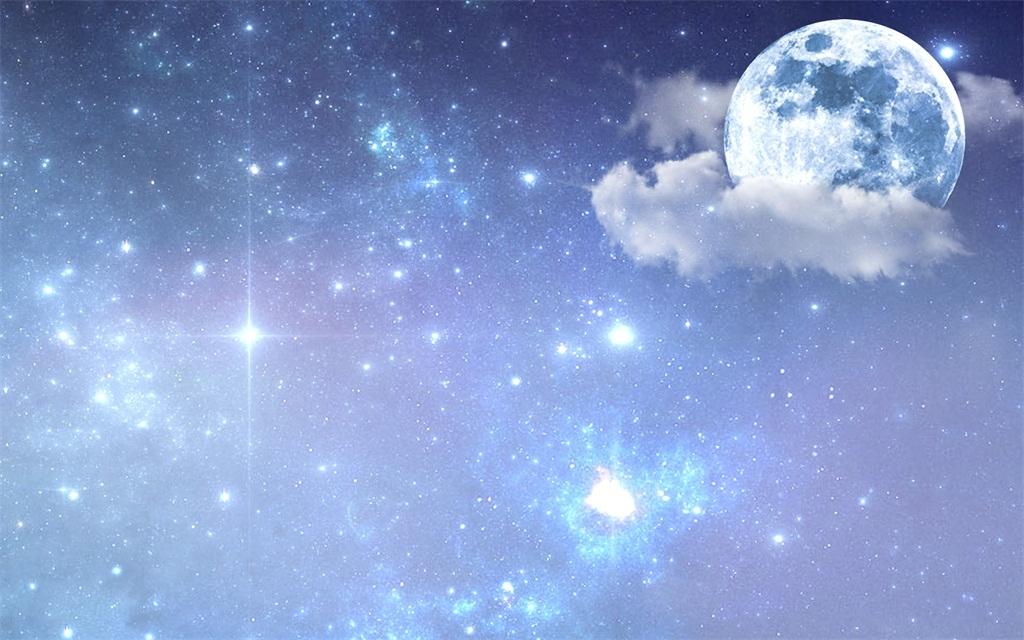 星空月亮渐变海报设计图