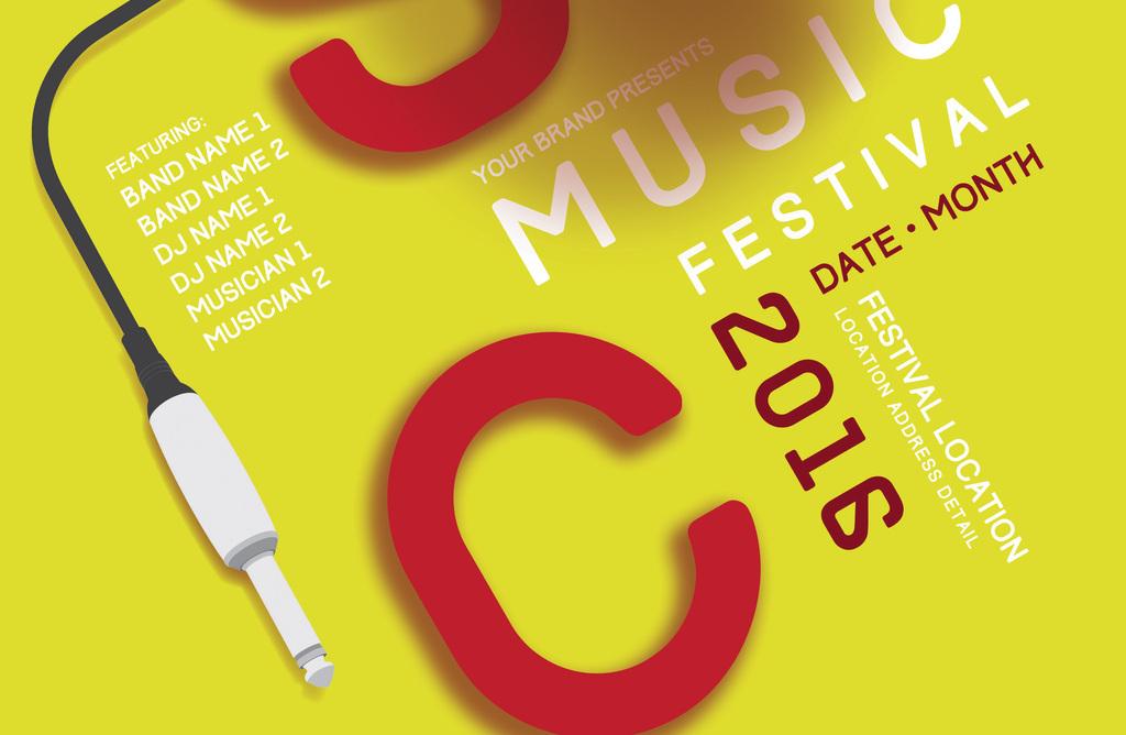 大学生音乐节音乐会社团招新纳新宣传海报