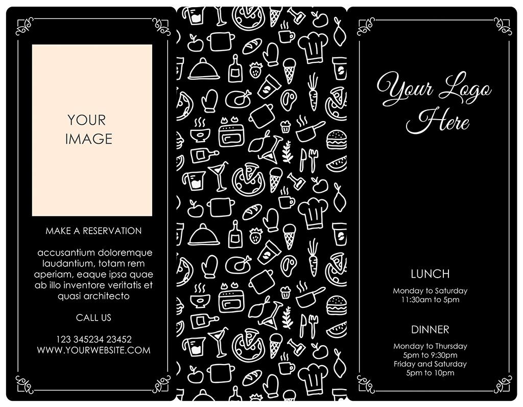 个性手绘餐饮行业时尚通用菜单psd模板
