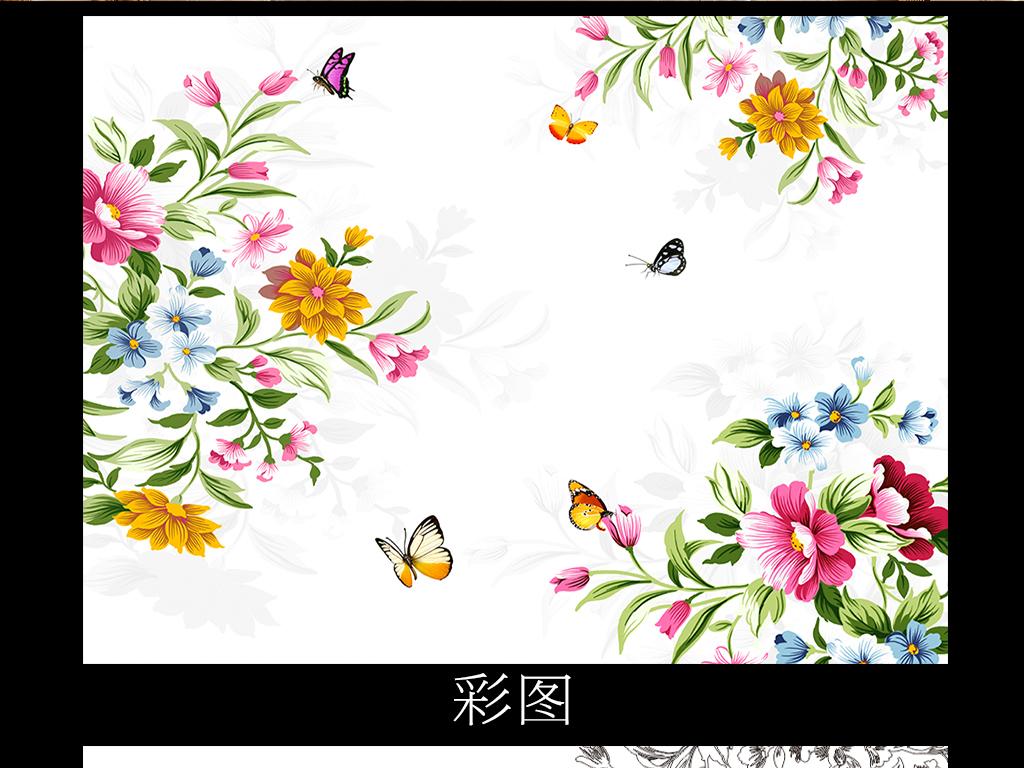 背景墙|装饰画 电视背景墙 彩雕电视背景墙 > 手绘现代花卉彩雕背景墙