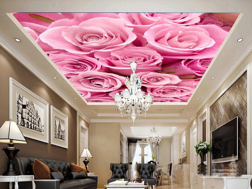 玫瑰花天花吊顶