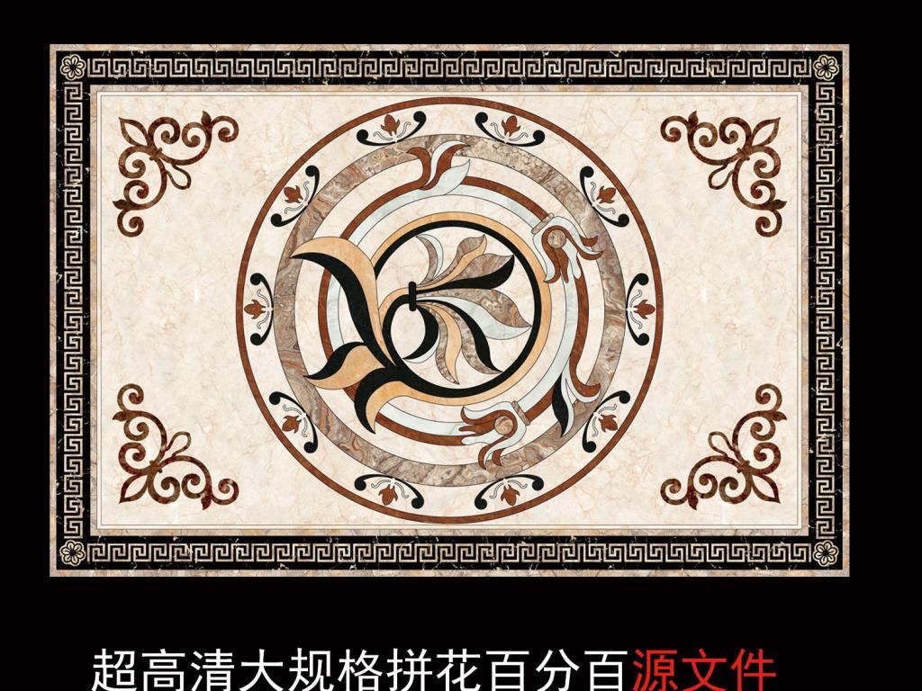 超高清欧式花纹石材拼花欧式吊顶天花(图片编号:)__我图片