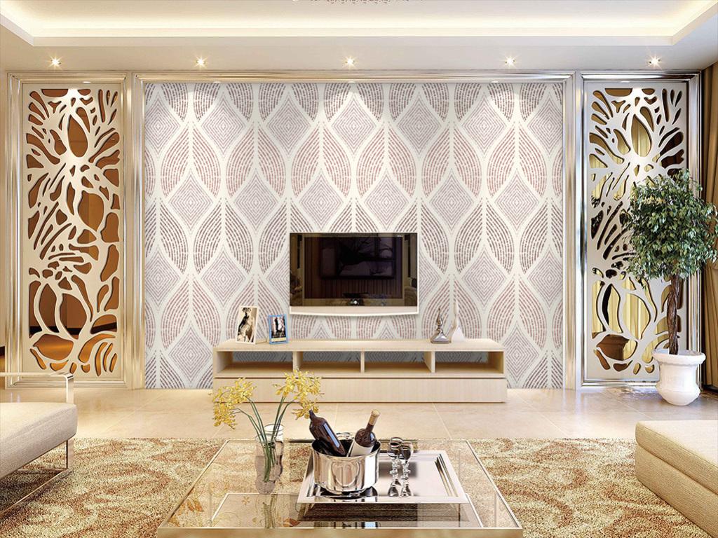 彩雕电视背景墙 > 3d梦幻动感菱形圆圈花纹线条瓷砖