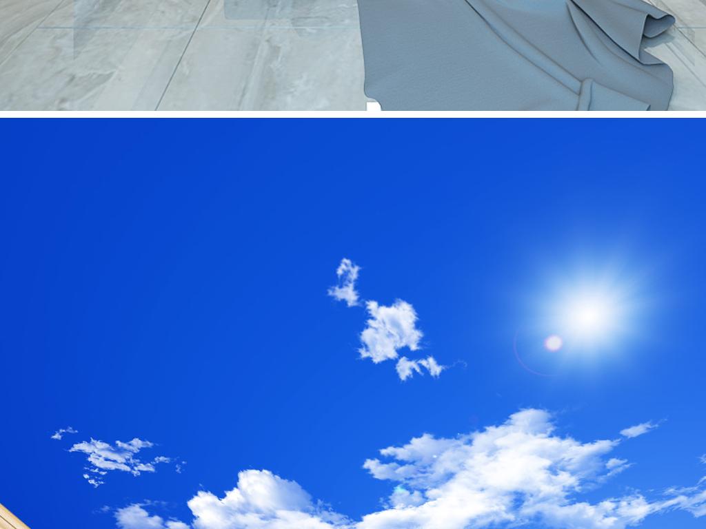天花板背景墙顶棚立体吊顶高清天顶天空风景吊顶蓝天白云草地蓝天草地图片