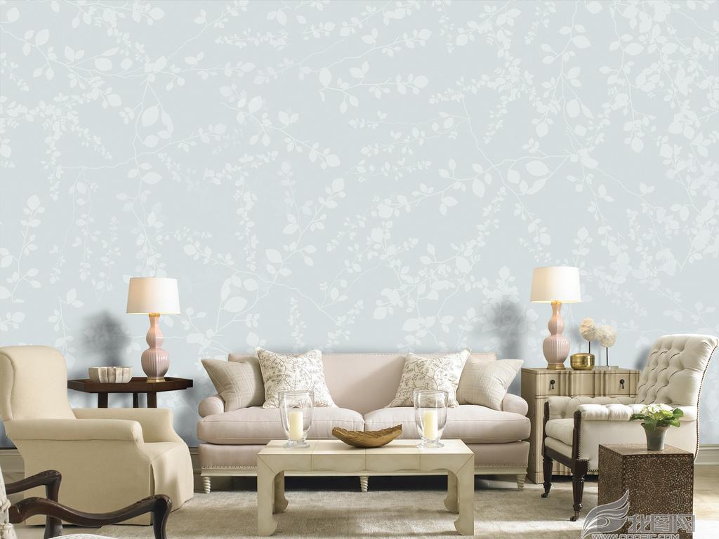 美式田园花卉壁纸墙纸图片