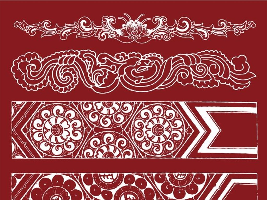 中式花纹边框图案