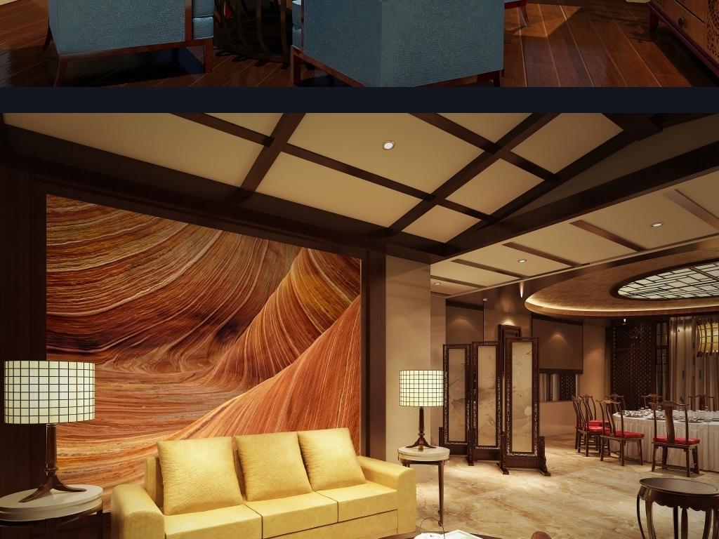 室内手绘木纹表现