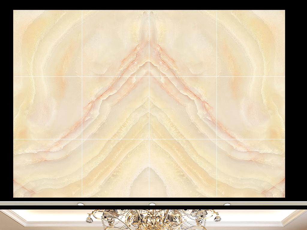 欧式简约大理石拼花背景墙(图片编号:15615588)