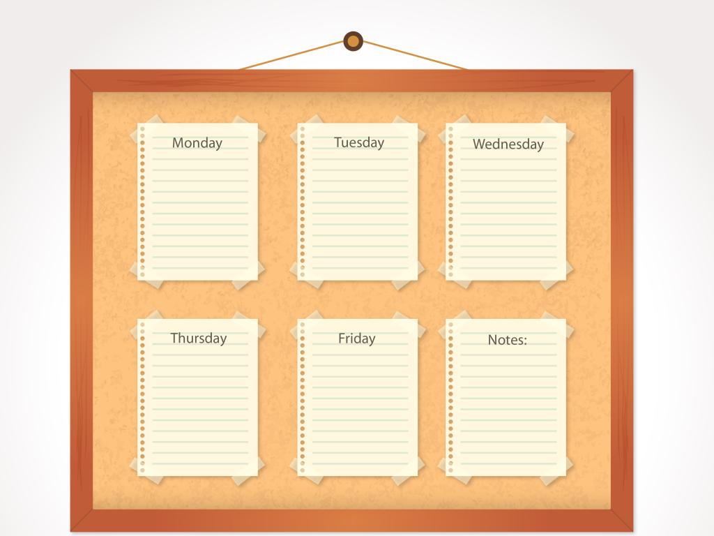 卡通学生课程计划时间作息表