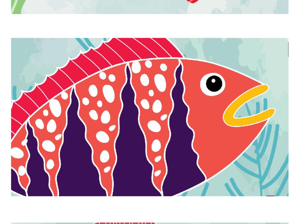 卡通海底世界鱼儿无框画(图片编号:15621644)_动物无