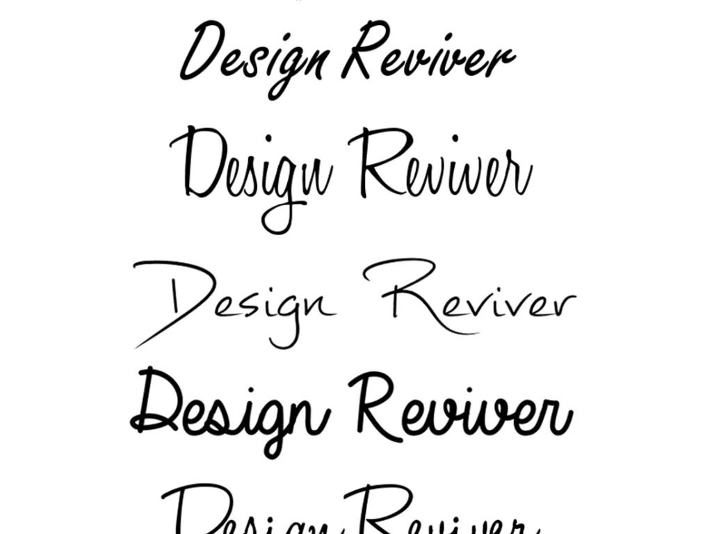 国外特色时尚英文毛笔手写创意婚礼字体安装图片