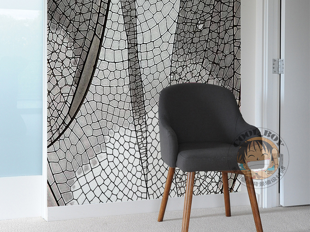 现代简约手绘几何图形透明翅膀装饰画