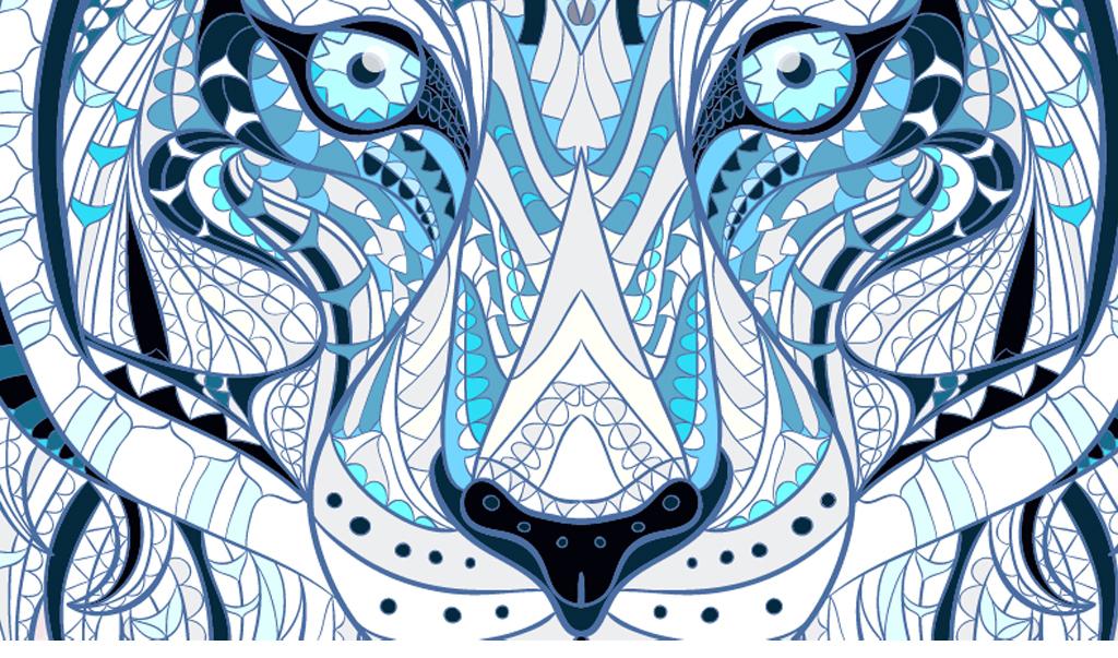 现代抽象色彩动物头像(图片编号:15627998)_动物图案