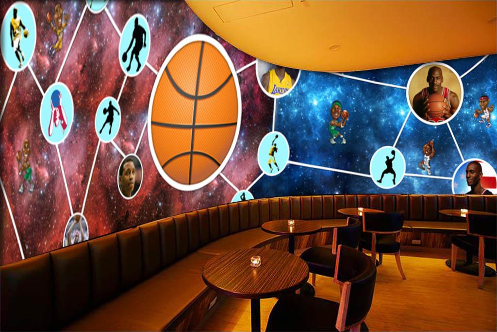 背景墙|装饰画 工装背景墙 酒吧|ktv装饰背景墙 > 现代时尚nba篮球图片
