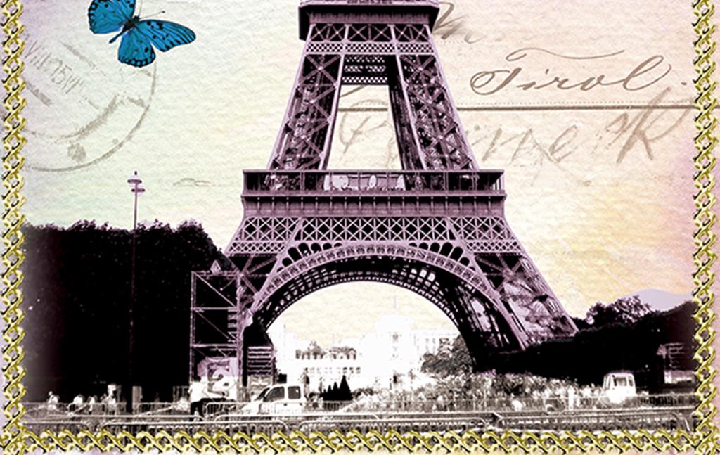 复古巴黎铁塔(图片编号:15629780)