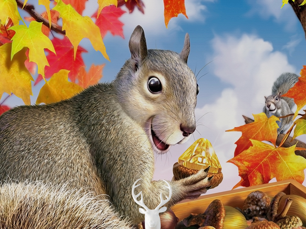 秋天幼儿动物图片