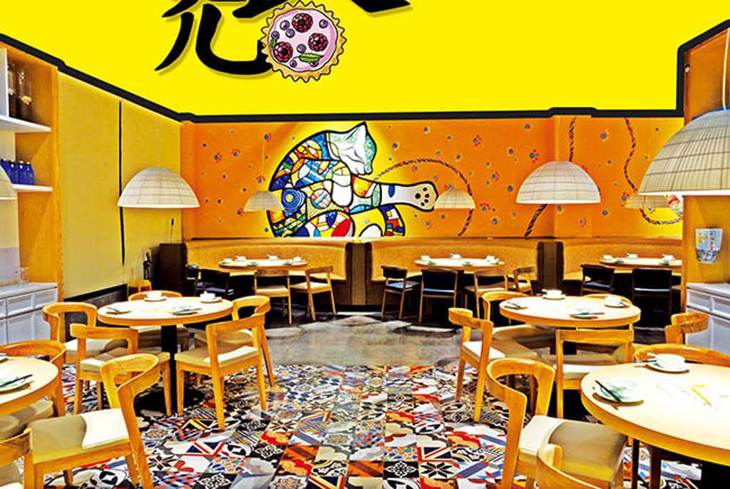 卡通创意主题餐厅宣传海报psd素材