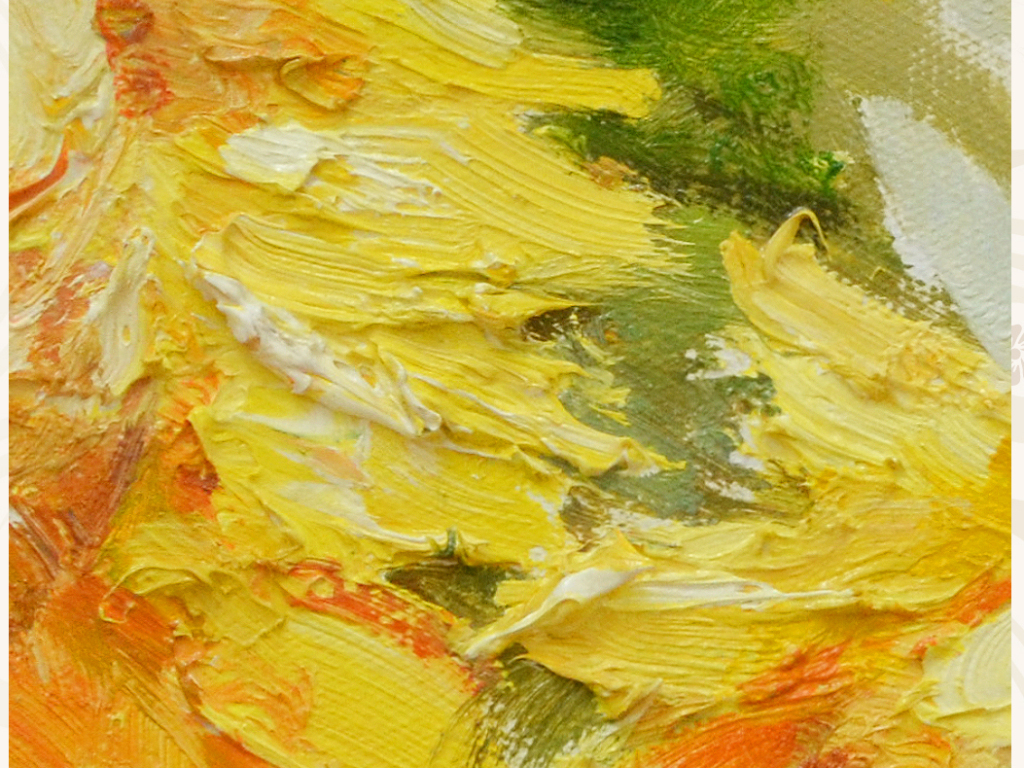 高清巨幅纯手绘油画向日葵艺术玄关