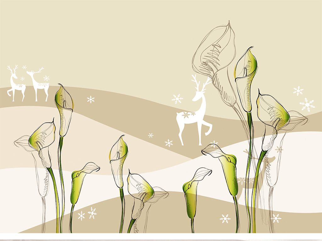 鲜花3d                                  立体手绘