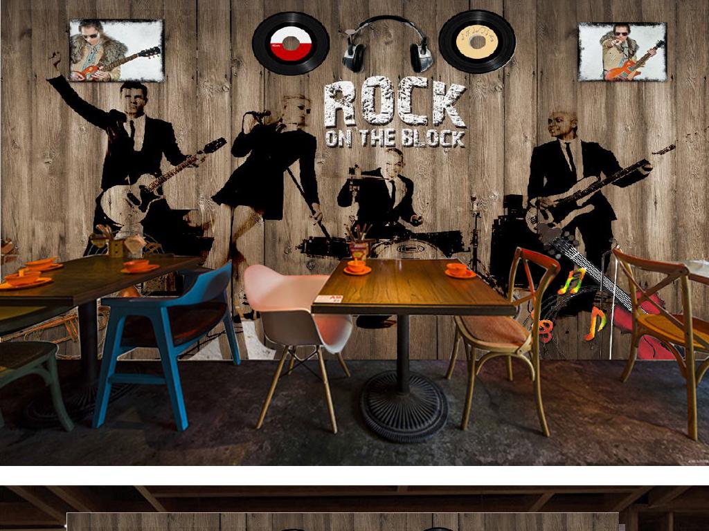 摇滚乐队玻璃电视背景墙图片电视背景墙电视墙壁纸效果图电视墙壁纸3d