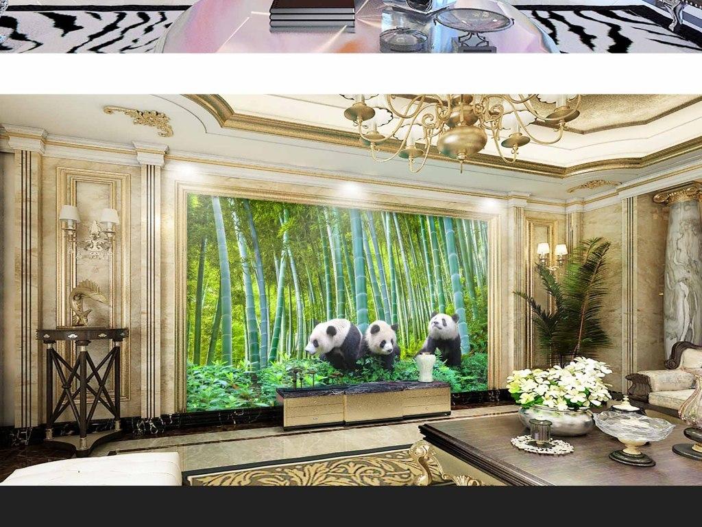 动物电视背景墙图片玻璃电视背景墙图片客厅电视背景