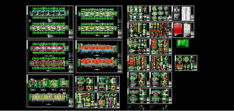 全套别墅CAD施工图