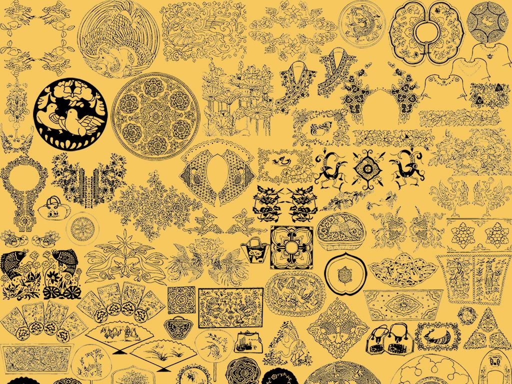 花边纹身图案图腾纹身图腾虎图腾卡通动物小动物野生