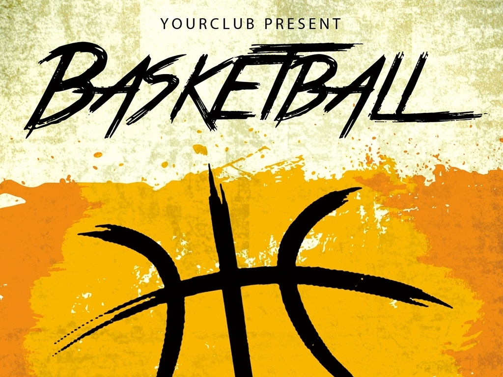 psd)篮球协会招新海报篮球社团