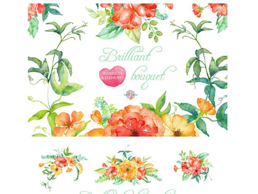 手绘手绘心形图案手绘花边边框图案手绘背景墙图案