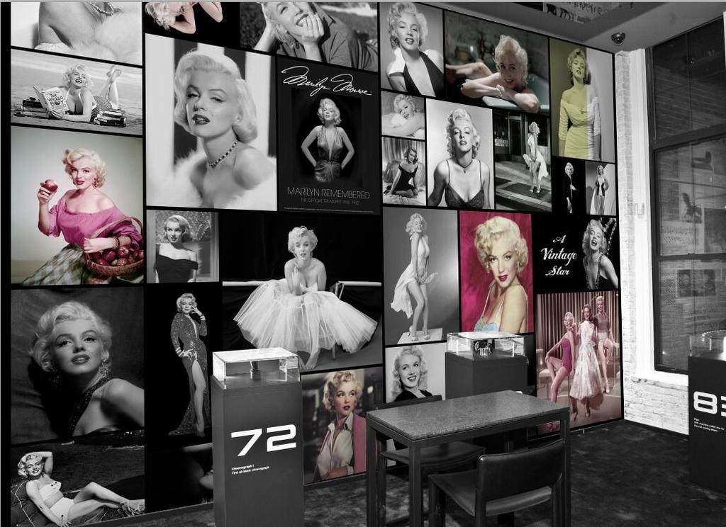 玛丽莲梦露明星海报墙酒吧餐厅服装店壁纸