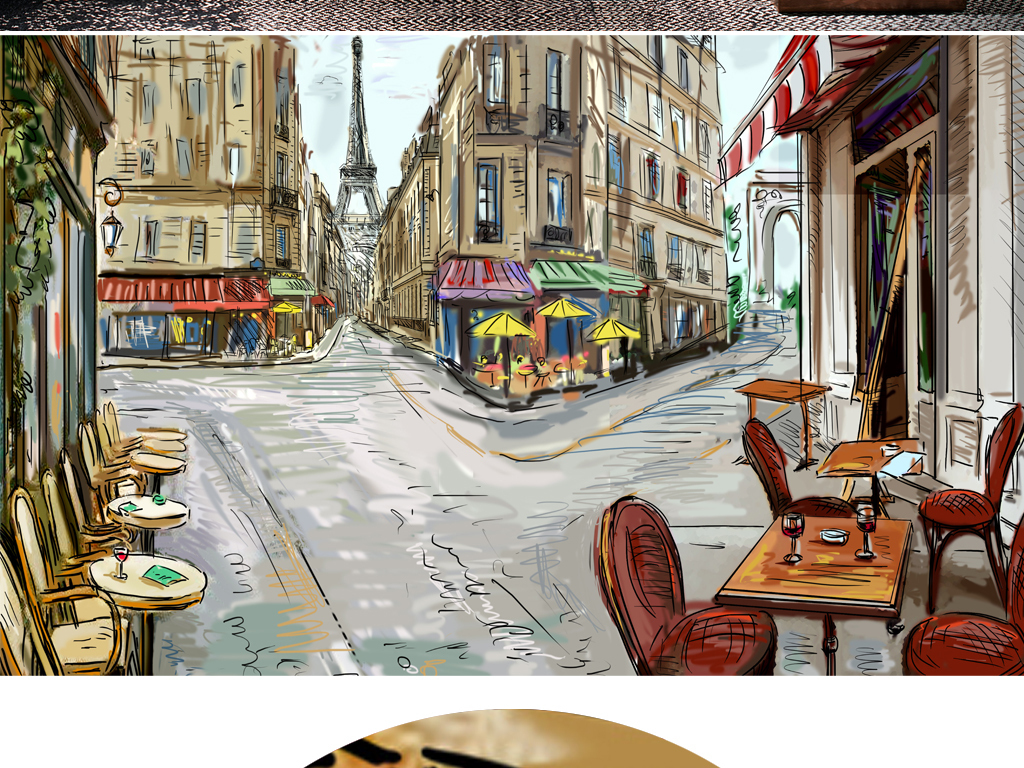 Fashion Illustration Street Scene