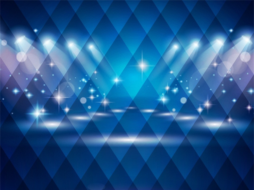 蓝色炫酷科幻舞台菱形星光星空灯光效果图