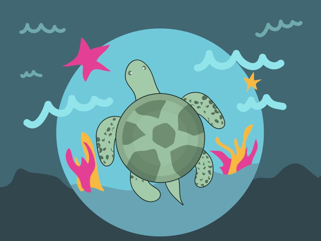 海底卡通乌龟cdr矢量素材龟头乌龟头