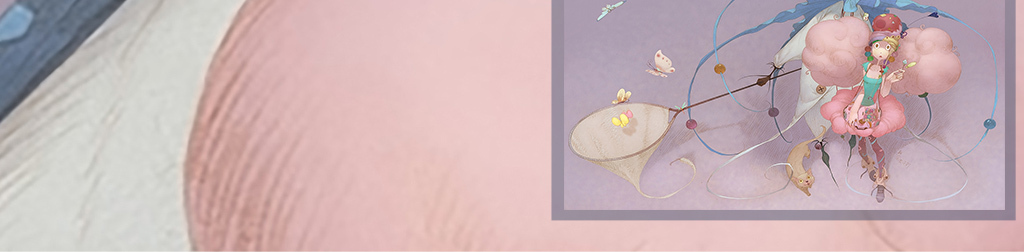 卡通手绘蝴蝶花仙子抽象动漫儿童房背景墙