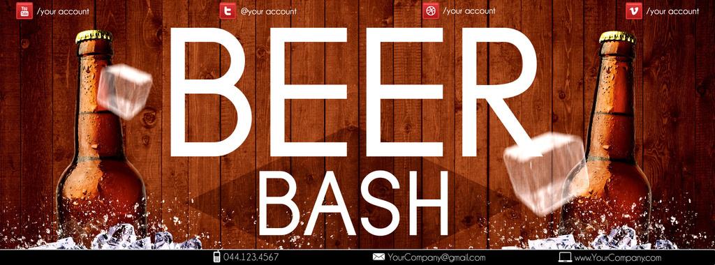 高档酒吧冰爽啤酒节啤酒促销宣传海报模板