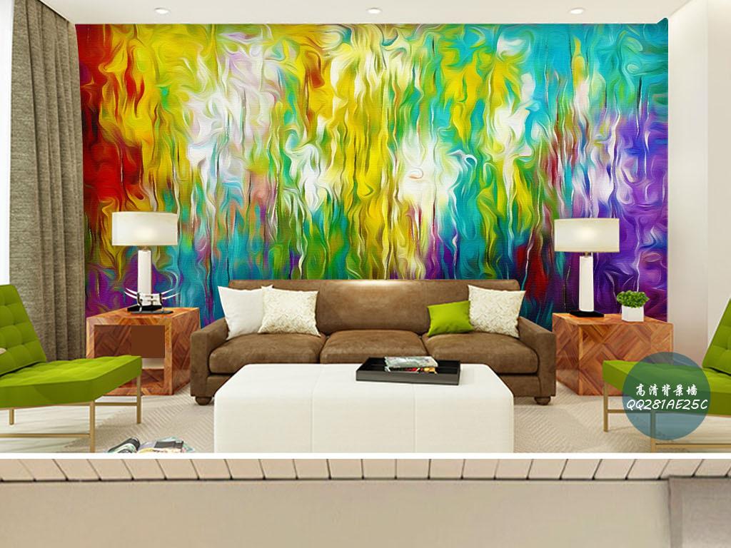 印象之美欧美风现代抽象主义绘画背景墙壁画