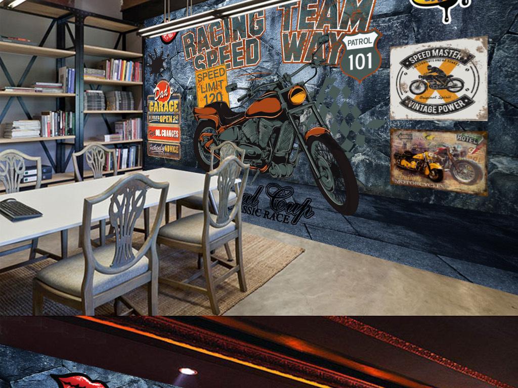 夜店墙体手绘图