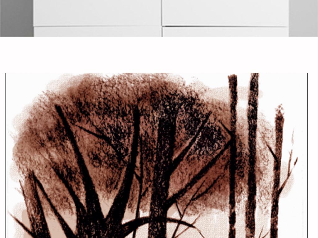 复古手绘森林