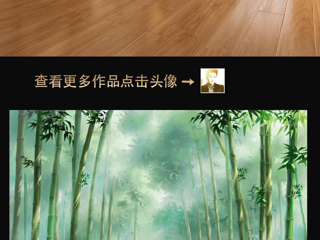 迷幻小鹿树林森林电视背景墙