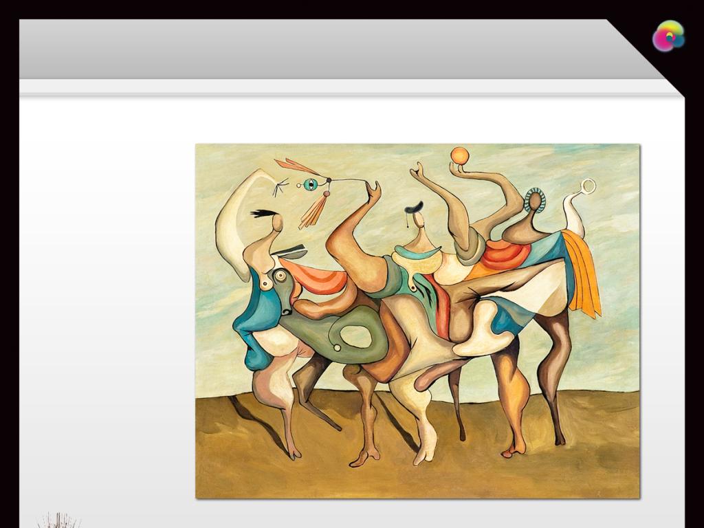 现代简约抽象手绘人物油画电视背景墙装饰画