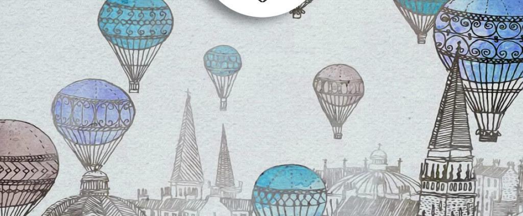 抽象手绘先热气球图案无框画(图片编号:15660509)_无