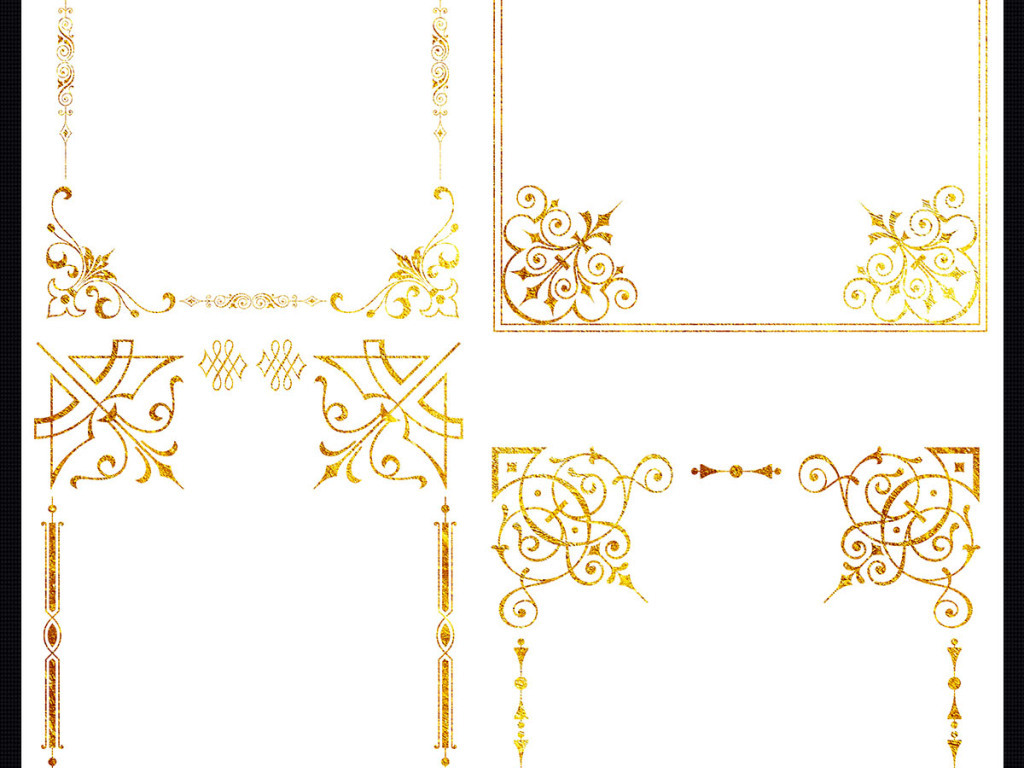 欧式古典金色边框图片