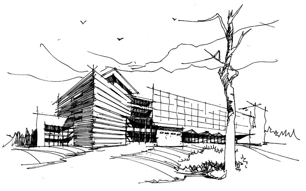 房子黑白建筑小鸟卡通房子动画房子线条线条房子ktv酒店咖啡厅背景墙