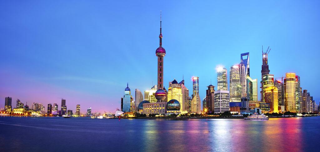 高清上海东方明珠夜景背景墙电视墙装饰画