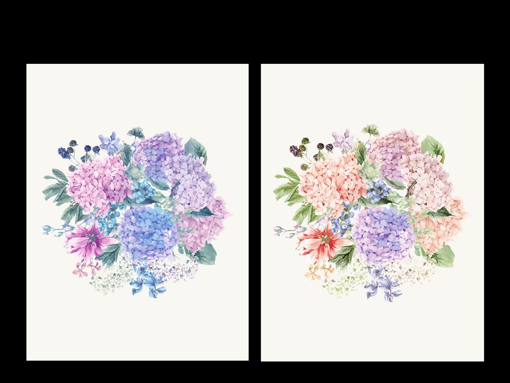 森系文艺手绘花束