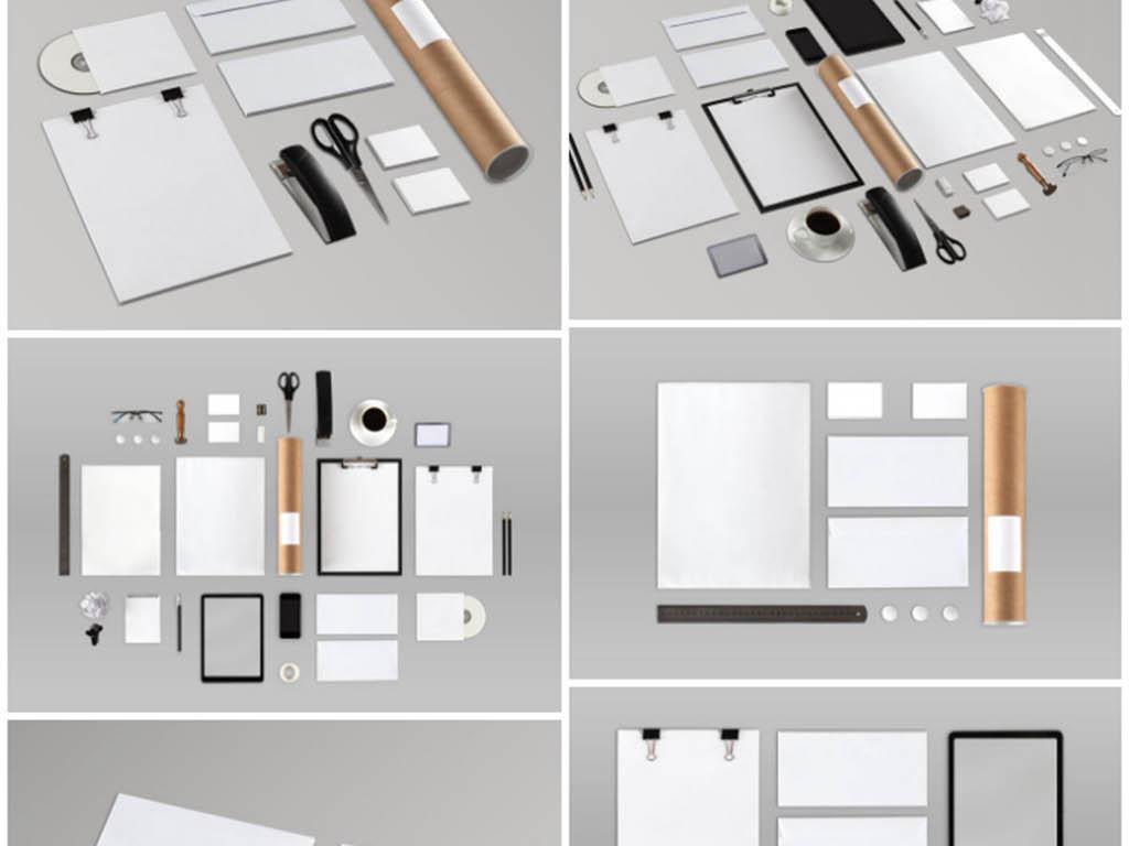 用品牌办公用品vi办公用品vi素材品牌设计办公用品psd手绘花朵图案