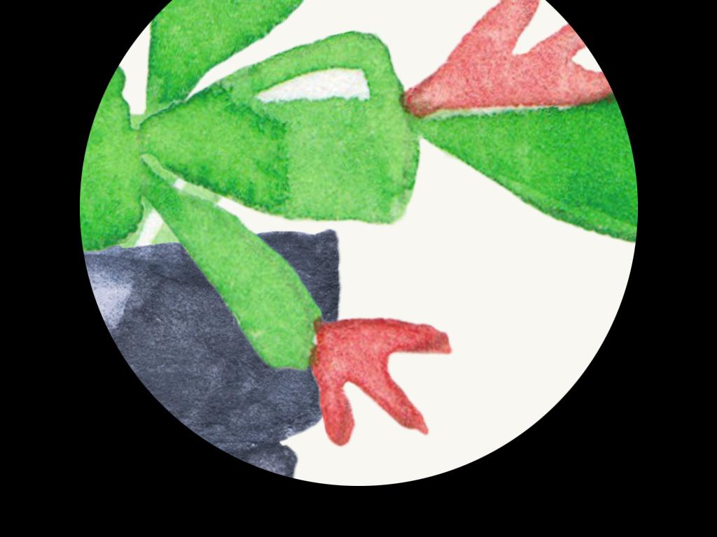 多肉植物小盆栽仙人掌绿色蟹爪兰芦荟室内装饰画人物