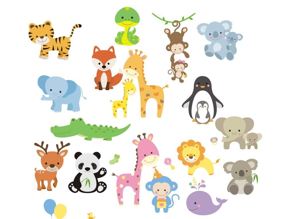 设计作品简介: 多款矢量卡通动物图