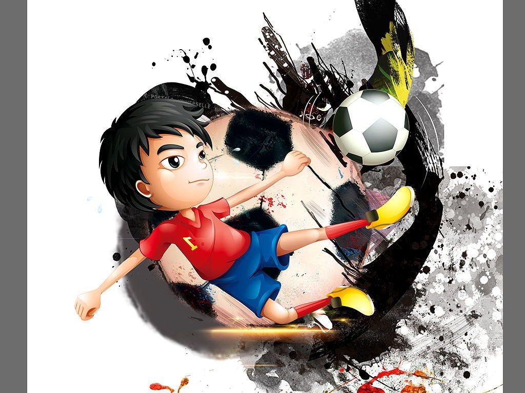 少儿足球培训海报展板宣传图片