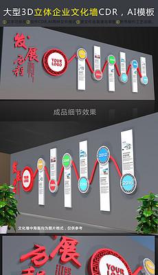 企业文化墙效果图公司发展历程<strong>时间</strong>轴设计